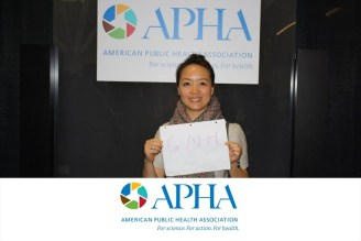 GNH and me at the American Public Health Association (APHA) Annual Meeting & Exposition (we are conference star!!!)