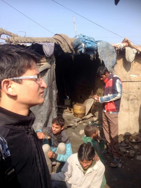 Visit to Balkhu slum in Kathmandu.
