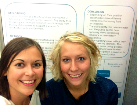 """""""Selfie"""" at the conference in front of our poster"""